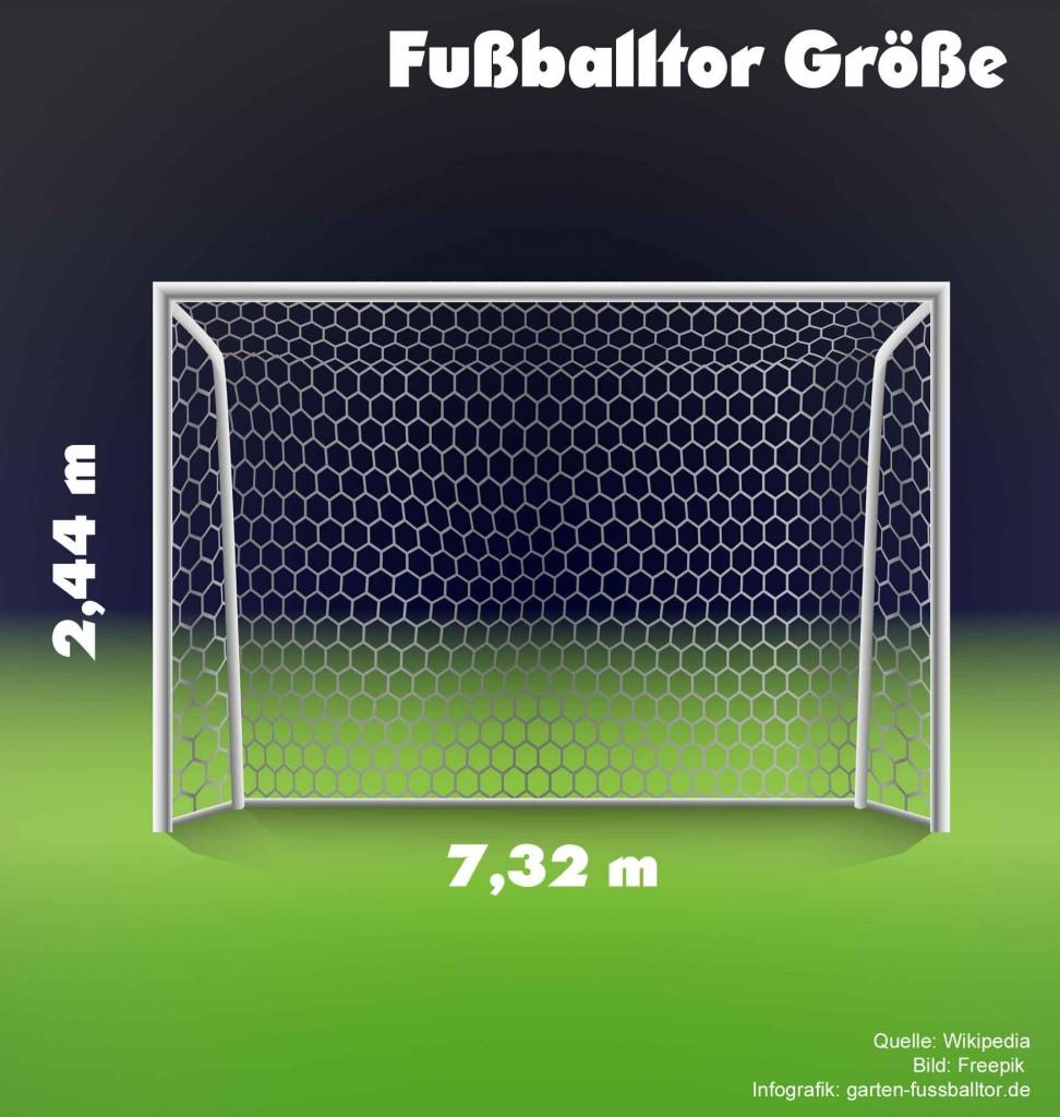Fußballtors Maße - Wie groß ist ein Fußballtor?